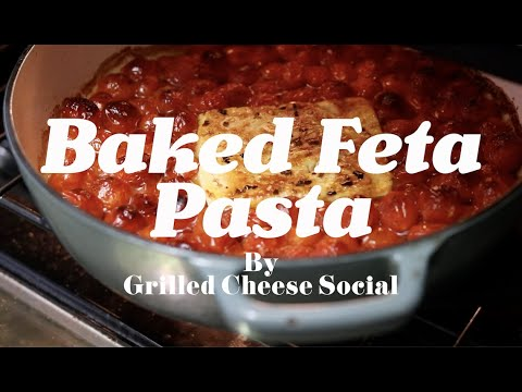 Baked Feta Pasta with Cherry Tomatoes, Garlic and Basil