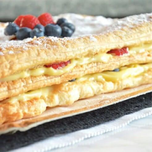 Millefoglie-Cream-Cake-with-Berries