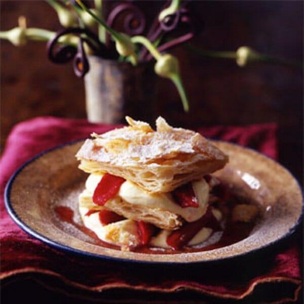 Millefoglie-with-Grappa-Cream-and-Rhubarb