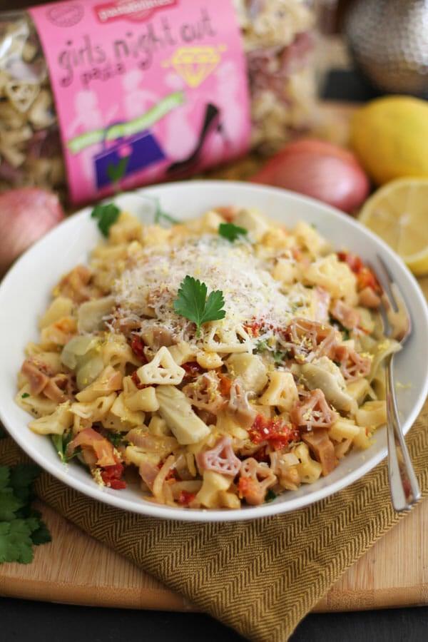 lemon-shallot-pasta-with-sun-dried-tomatoes