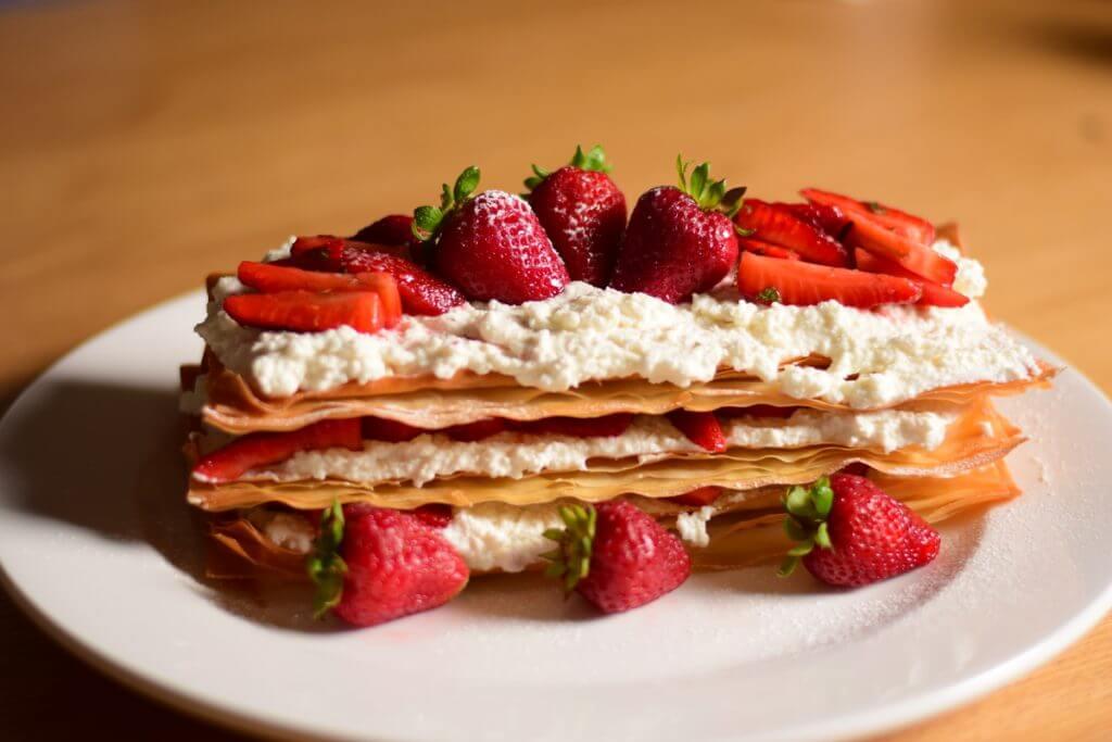 Strawberry-Mint-millefoglie-with-ricotta