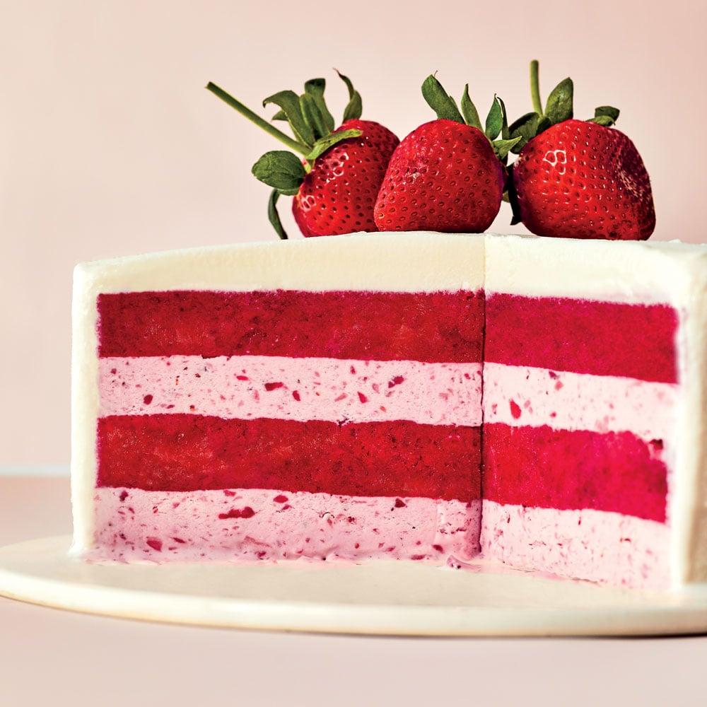 Strawberries-and-cream-gelato-cake