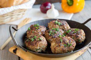 Alison Roman Sear Meatballs