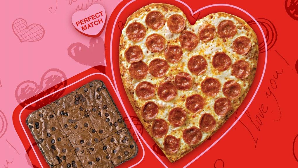 Papa John's Heart Shaped Pizza