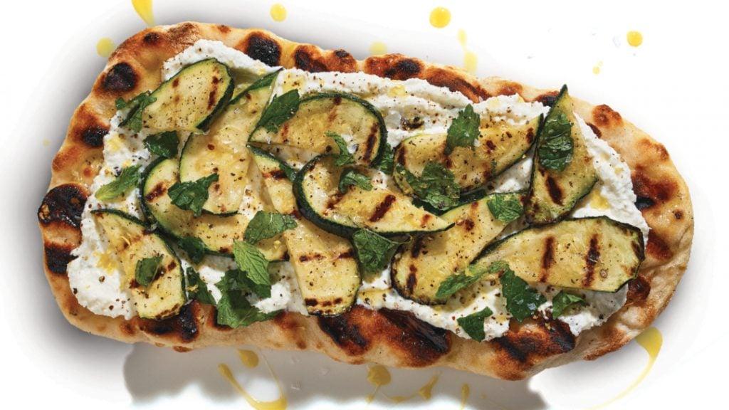 Pinsa with Zucchini_ Ricotta_ and Lemon