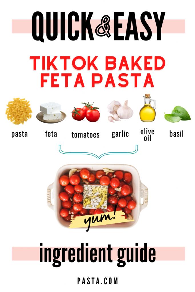 TikTok Baked Feta Pasta Recipe Ingredients