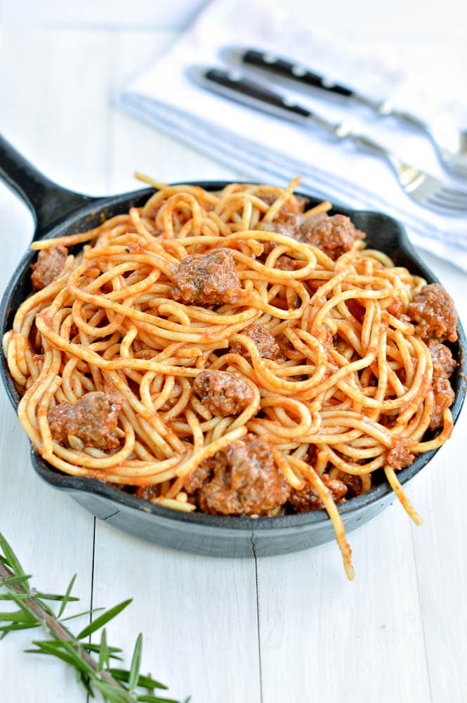 Keto Spaghetti and Meatballs