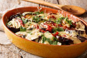 Aubergine Eggplant Pasta Bake