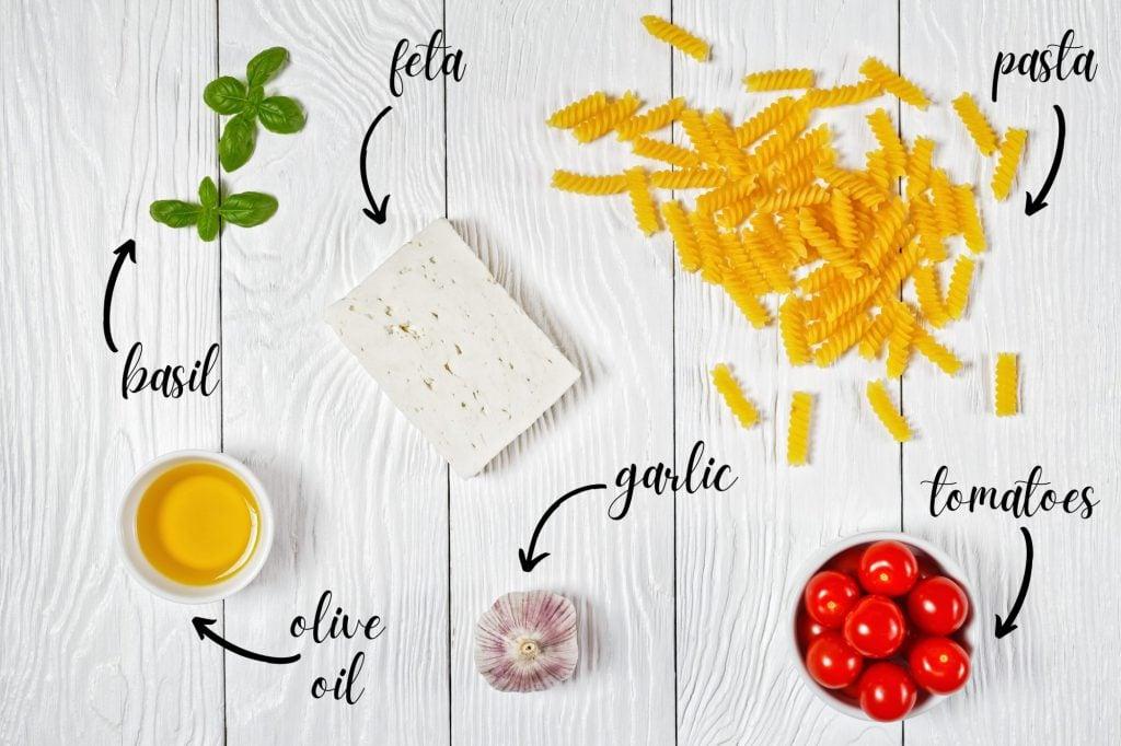 Baked Feta Ingredients