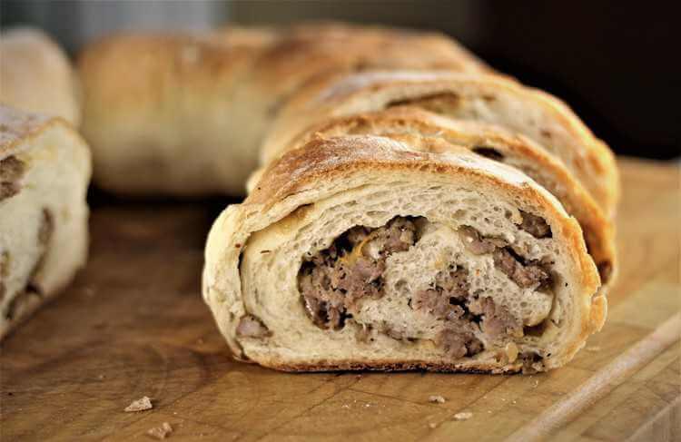 Traditional Sicilian Sausage Bread