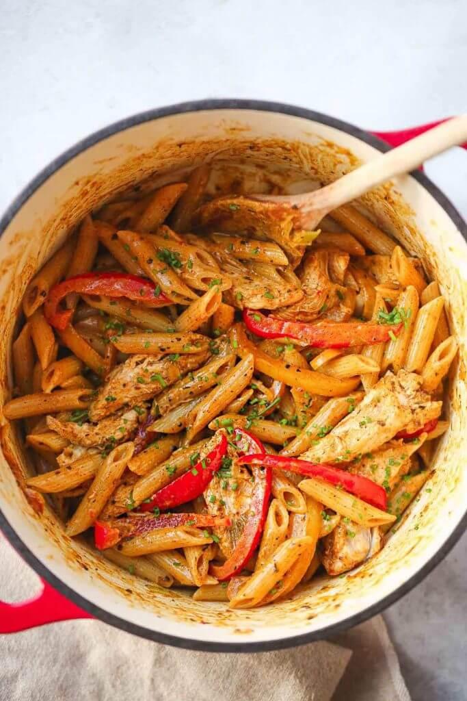 Rasta Pasta with Caribbean Jerk Chicken