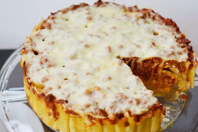 3-Cheese Italian Rigatoni Pie