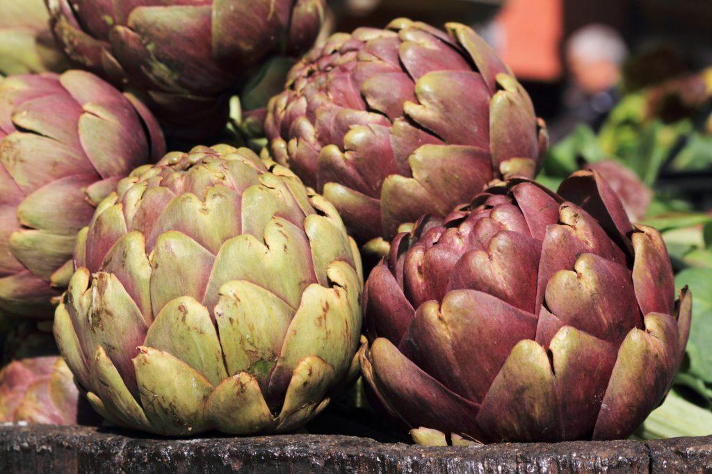 Roman cimaroli (or mammole) artichokes