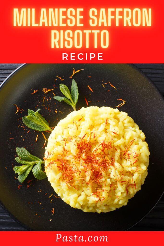 Milanese Saffron Risotto Recipe