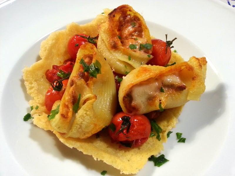 Stuffed Lumaconi (Lumache) Snail Shell Pasta