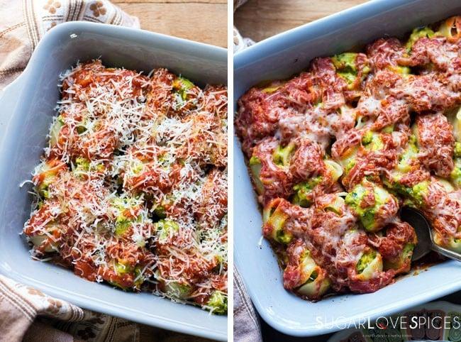 Kale, Squash, Ricotta Stuffed Lumaconi