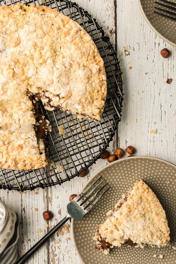 Italian Nutella Sbriciolata Crumb Cake