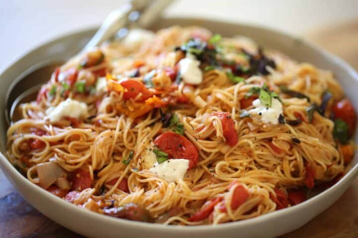 Angel Hair Pasta with Roasted Tomato Sauce