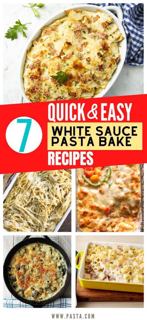 White Sauce Pasta Bake Recipes