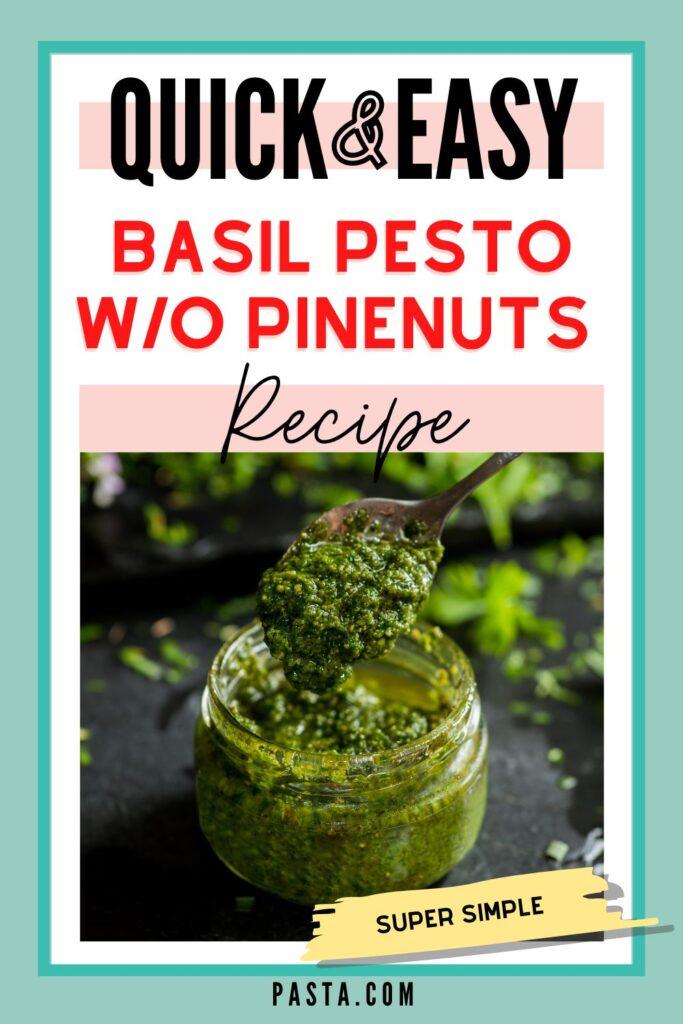 Basil Pesto with Walnuts